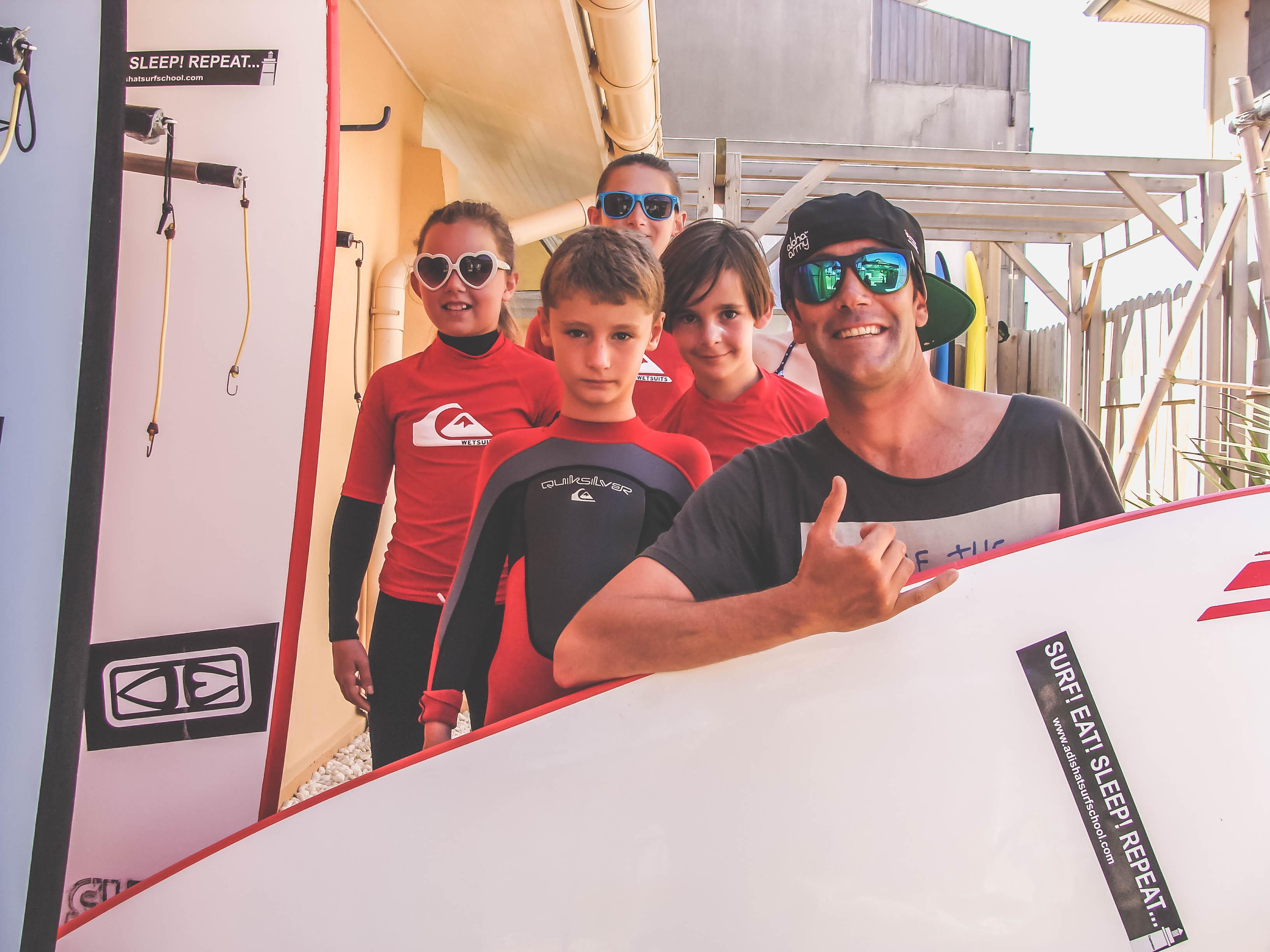 Cool crew Adishats surf