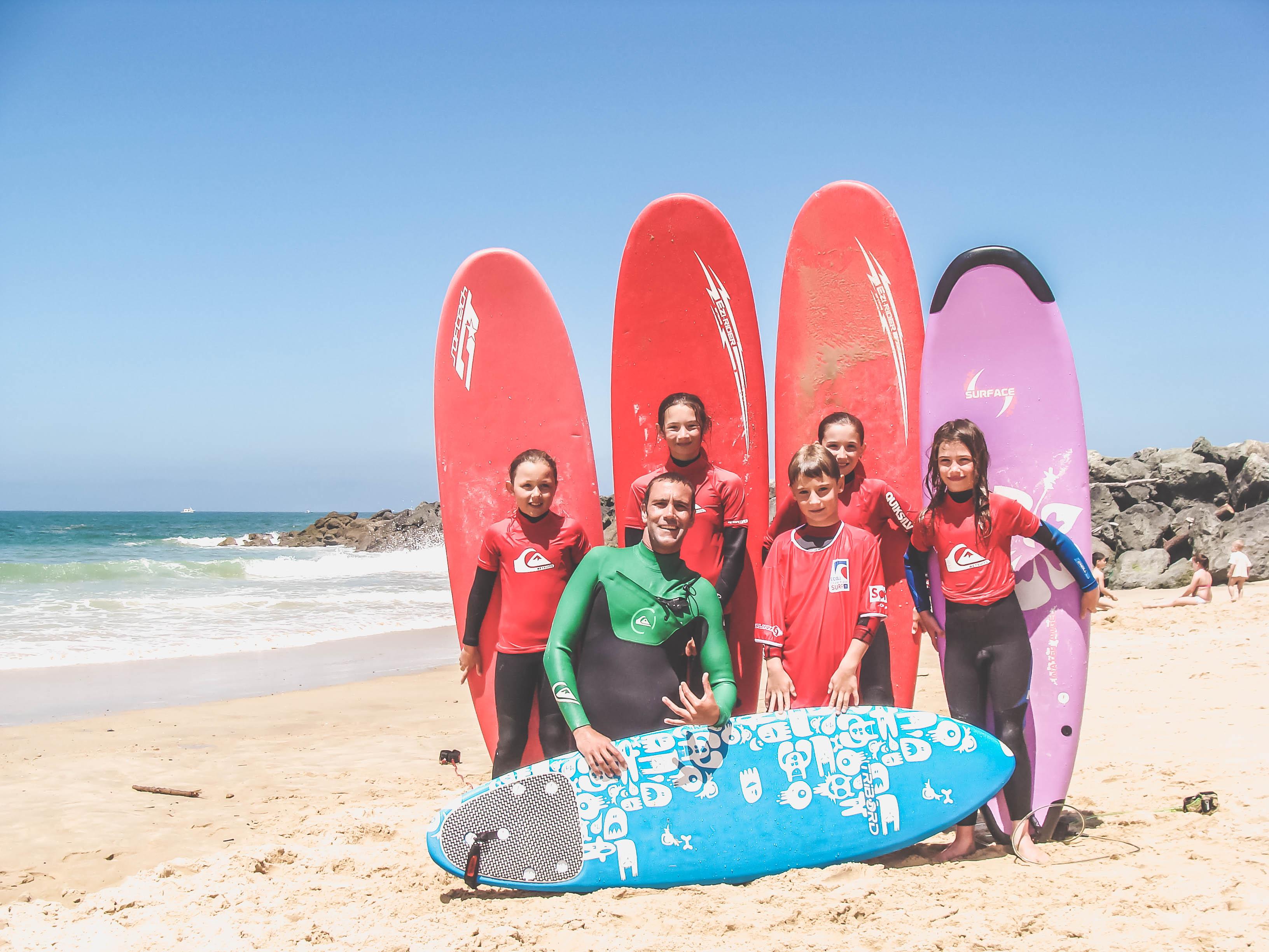 Surf plage Santocha enfants